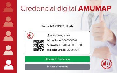 Nueva credencial digital de AMUMAP