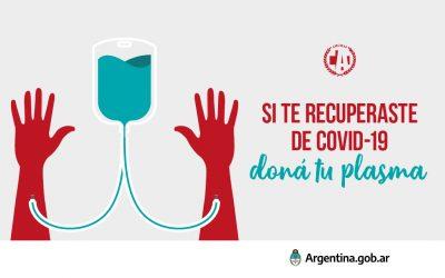 Donación de Plasma de pacientes recuperados de Coronavirus