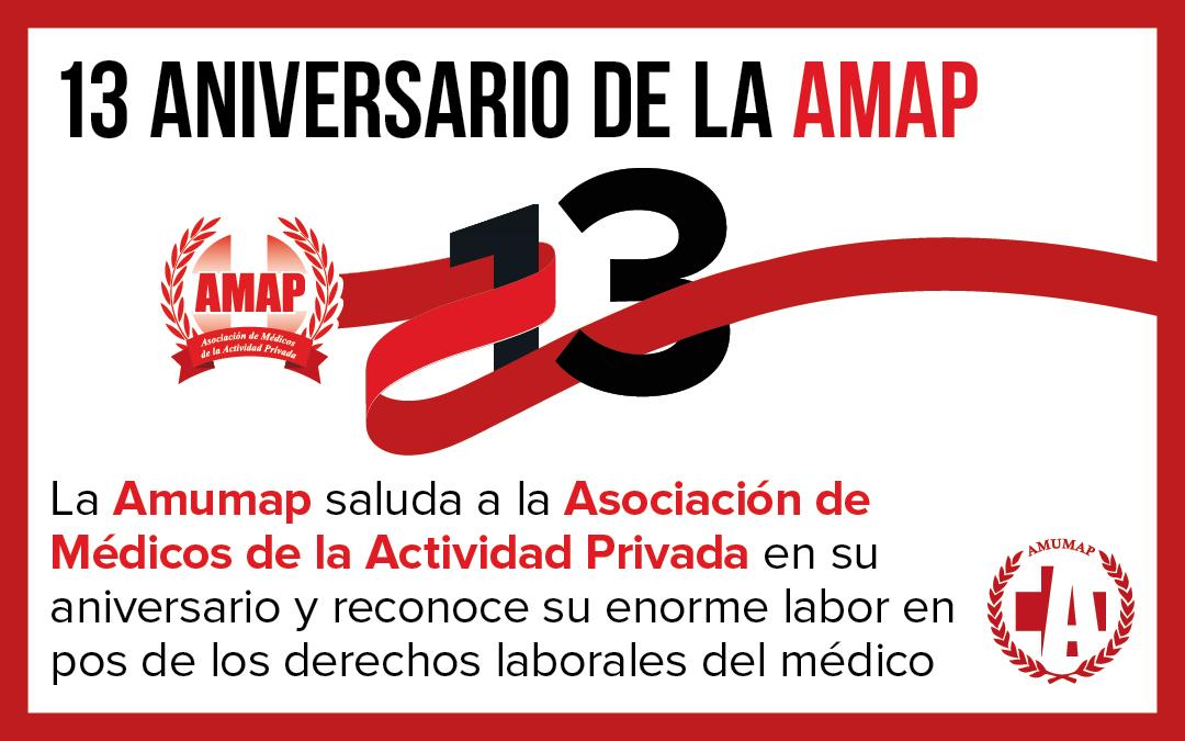 7 de Noviembre – 13° Aniversario de la AMAP