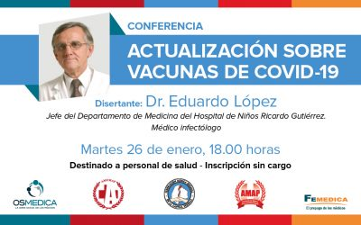 Conferencia: Actualización sobre vacunas de COVID-19